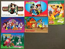 # T1381    WALT DISNEY  CHARACTERS  POSTCARD LOT,  6  DIF. CARDS,   MICKEY MOUSE