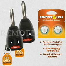 2 For 2006 2007 2008 Dodge Durango Keyless Entry Remote Car Key Fob Fits