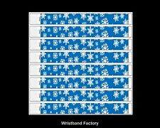 100 x Tyvek Blue Snowflake Party Function Event Concert Rave Disco Wristbands