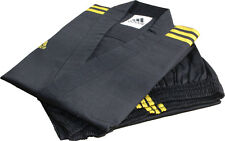Adidas Champion 3-stripe Black Open Dobok Uniform/TaeKwonDo/Karatedo