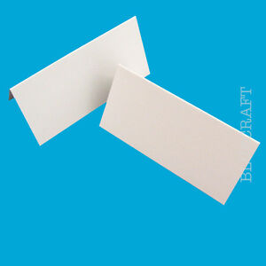 25 x Place Name Cards Blank Wedding Party White 240gsm