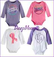 UNDER ARMOUR OUTFIT BODYSUIT LONG ONE PIECE BABY GIRLS 3 6 9 MONTHS NEW