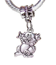 Cat Kitty Pet Tiger Kitten Animal Dangle Charm Bead for Silver European Bracelet