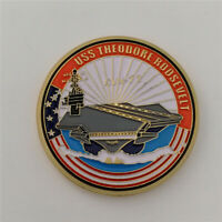 US Military NAVY USS Theodore Roosevelt CVN-71 Aircraft Carrier Challenge Coin