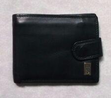 Wallet Vintage Leather BI-FOLD CARDS NOTES 1980s 1990s BLACK