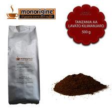 Caffè Arabica macinato fresco per espresso Tanzania AA Lavato Kilimanjaro 500 gr