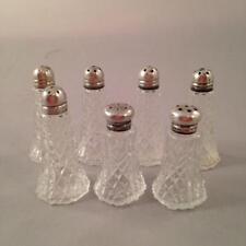 7 Glass & Sterling Salt & Pepper Shakers