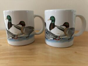 Classic Pair of Drake Quintet 10oz Coffee Mugs by National Wildlife Federation