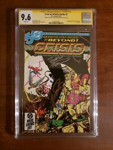 Crisis on Infinite Earths #2 (CGC 9.6) Signed by George Perez & Marv Wolfman