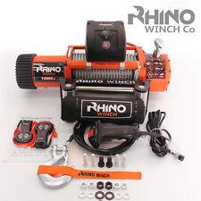 13500 lb (environ 6123.50 kg) 24 V électrique 4X4 récupération RHINO Treuil (Pas 13000 lb (environ 5896.70 kg)) 2 télécommandes Heavy Duty