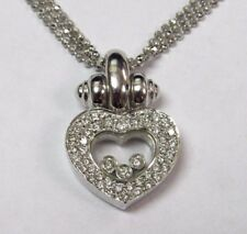 14K White Gold Necklace with Diamond Heart Pendant