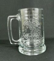 Silver Dollar Saloon Clear Mug Branson Missouri Etched Emblem Beer Glass