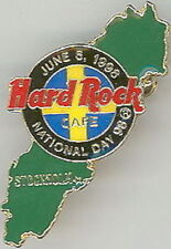 Hard Rock Cafe STOCKHOLM 1998 NATIONAL DAY Green Map PIN - LE 750 - HRC #9282