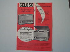 advertising Pubblicità 1963 GELOSO RADIO G 3401/FONOGRAFO G 3451