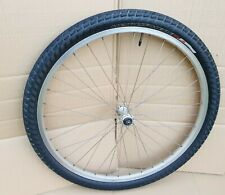 "Front Mountain Bike Wheel 26"" 1.95 Rim Brake / Specialized Anti Flat Tyre Silver"