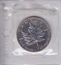 1988 Canada 1 oz. Silver Maple leaf in Cello