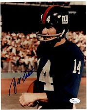 Y.A. Tittle New York Giants HOF 1971 Signed Auto 8X10 Photo JSA COA