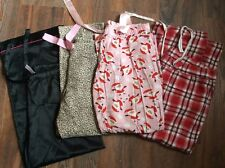 Lot of 4 Pajama Lounge Pants Old Navy Victoria's Secret Christmas M Large