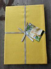 "Libeco Belgium Linen Blend Tablecloth Lemon Yellow 82.5"" x 82.5"" – New"