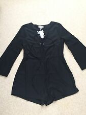 Black Romper by Neon Rose Size L NW
