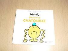 """Merci, Monsieur CHATOUILLE   Roger Hargreaves Collection """"Bonhomme et Les Dames"""""""