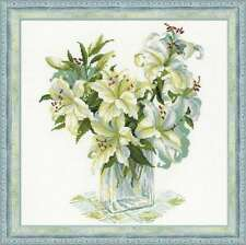 "Counted Cross Stitch Kit RIOLIS 1169 - ""White Lilies"""