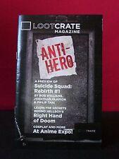 """Loot Crate Aug 2016 """"Anti-Hero"""" Magazine"""