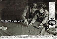 Publicité Advertising 1986 (2 pages) Fauteuil canapé L'Univers du Cuir