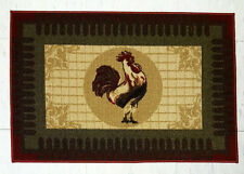 COUNTRY ROOSTER BEIGE KITCHEN RUG FLOOR DOOR MAT HOME DECOR 20x30 OTTOMANSON