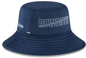 Dallas Cowboys New Era NFL 2020 Navy Training Camp Bucket hat cap one size