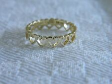 Clogau 18ct Yellow Welsh Gold Heart Affinity Stacking Ring size K