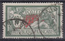 FRANCE : MERSON 10F VERT & ROUGE N° 207 OBLITERATION CHOISIE