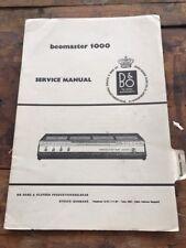 Beomaster 1000 Radio Service Manual b&o - L90
