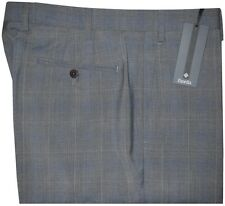 $365 NEW ZANELLA NORDSTROM DEVON HEATHER GRAY WINDOWPANE DRESS PANTS 36