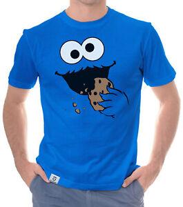 Herren T-Shirt - Keks Monster - Krümel Kostüm Karneval Cookie Straße Fan Serie