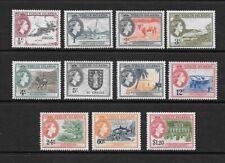 1956 Queen Elizabeth II SG149 - SG159 Set of 11 stamp Mint Hinged VIRGIN ISLANDS