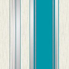 Synergy Stripe Glitter Wallpaper Teal - Vymura M0801