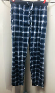 Open Trails Men's Lounge Pants Sz Large Blue With White Stripes With Pockets (pp