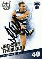 ✺Signed✺ 2017 GEELONG CATS AFL Card JACKSON THURLOW