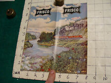 GREAT brochure: Feb. 1959 FRISCO 32pgs TIME TABLE light wear Stamped 3-10-1959