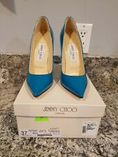 JIMMY CHOO ANOUK PATENT LEATHER TURQUOIS 37
