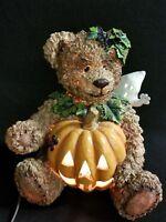 Halloween Electric Lighted Jack-o-Lantern Pumpkin Ghost Teddy Bear Cat Candy