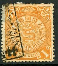 China Imperial 1¢ Coiling Dragon Shanghai Postal Box CDS H563