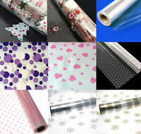 80cm Cellophane Christmas Birthday Hampers Gift Wrap Flowers Various Designs