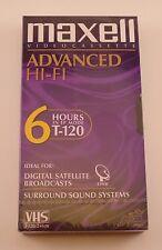 NEW SEALED Maxell Advanced Hi-Fi blank VHS VCR tape 6 Hours T-120  hifi