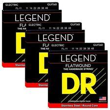 3 Sets of DR Strings FL-11 Legend Super Light Flatwound Electric Guitar Strings
