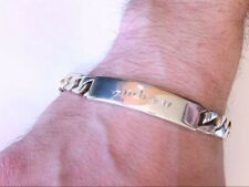"Tiffany & Co Sterling Silver Men's ""Andrew"" 8"" ID Bracelet. BUY NOW!!"