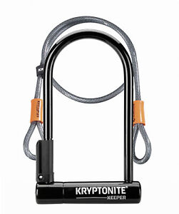 Kryptonite Bike Lock Keeper 12 Standard with 4' Flex Cable Silver Sold Secure