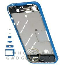 Housing Mid Plate for Apple iPhone 4 GSM Blue Body Frame Chassis Cover