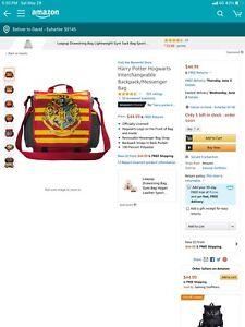 Harry potter backpack/messenger bag new